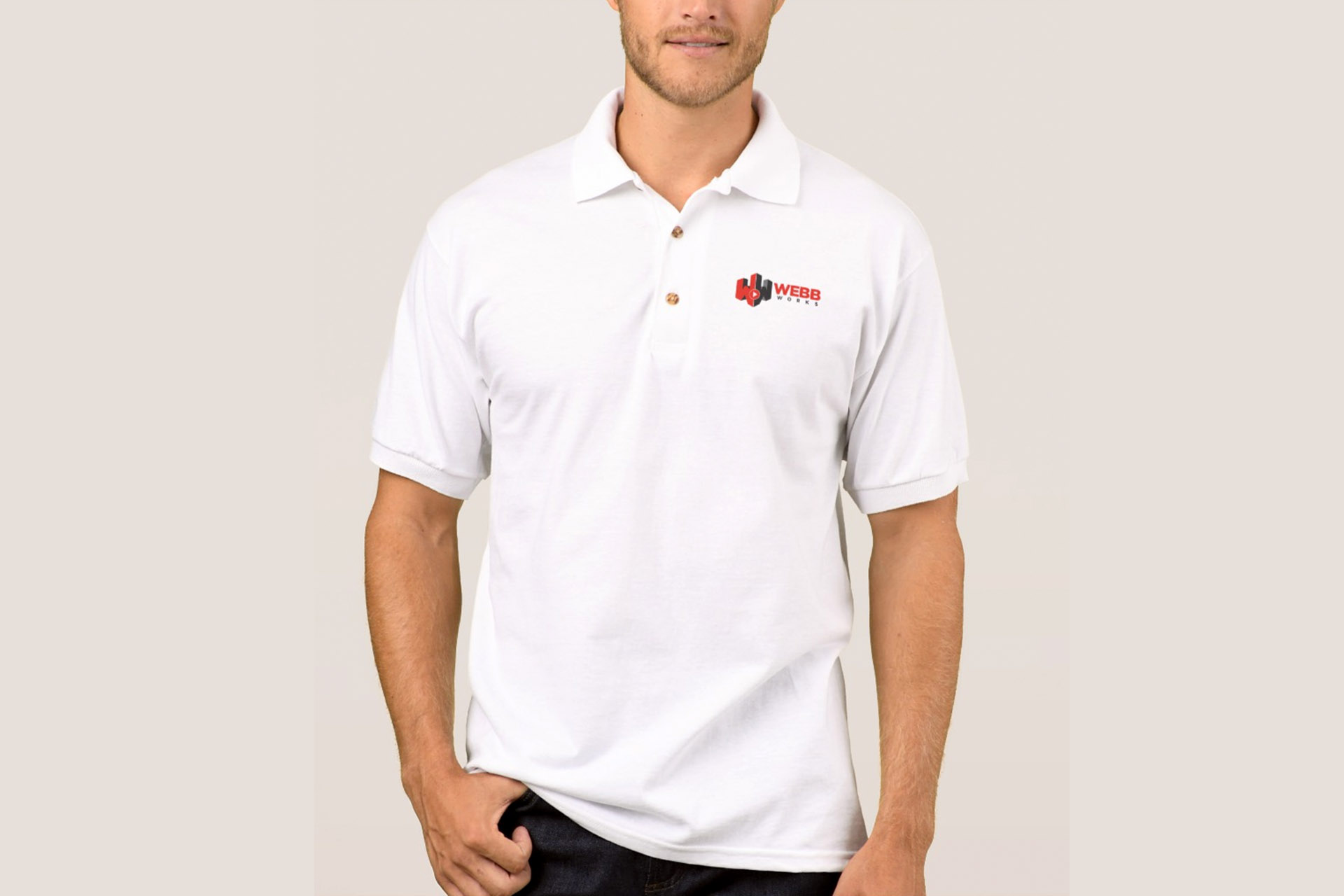 WW polo white
